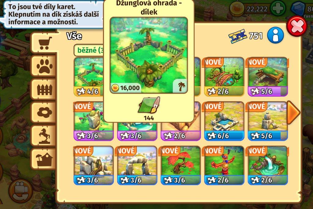 Zoo2 dílky staveb