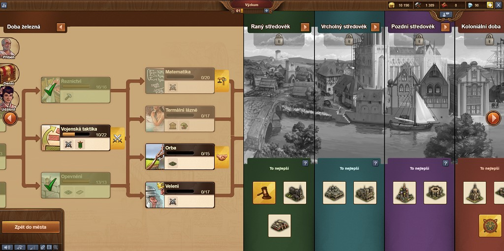 Forge of Empires technologie